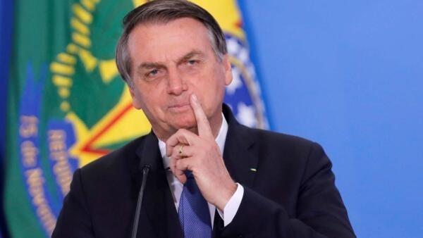 Le président brésilien Jair Bolsonaro lors d'une cérémonie au Palais Planalto à Brasilia, le 5 septembre 2019.
