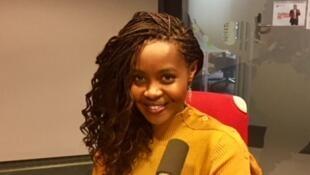 Clemantine Wamariya, auteure originaire du Rwanda, en studio à RFI (janvier 2019).