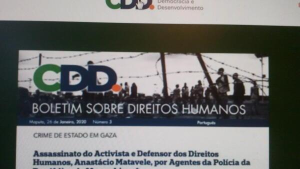 Centro de democracia quer processar estado moçambicano por morte de activista social