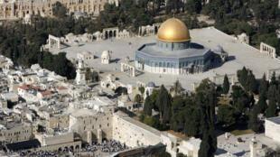 Vue de l'esplanade des mosquées à Jérusalem.