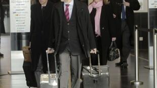 Delegación de la AIEA a punto de volar hacia Irán, el 15 de enero de 2013.