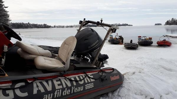 Canadian searchers on January 24 found the body of one of five French snowmobilers whose machines fell through the ice of a frozen lake, police said. A spokesman acknowledged that the chances of finding the group alive had dimmed