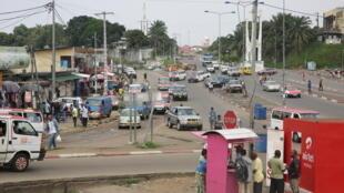 Une rue de Libreville le 8 janvier 2019.