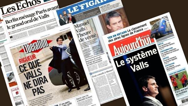 Capa dos jornais franceses Les Echos, Le Figaro, Libération, e Aujourd'hui en France desta terça-feira, 8 de abril de 2013