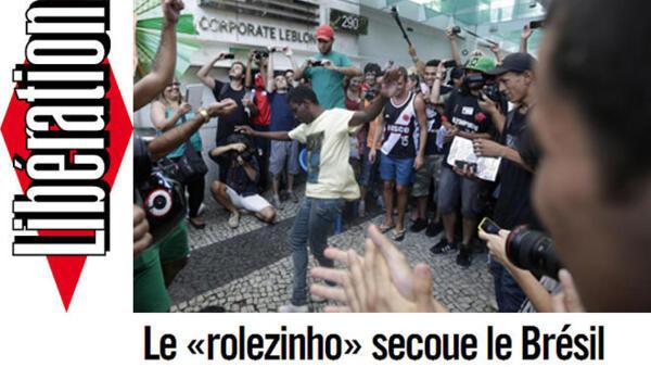 """Artigo do jornal francês Libération desta quinta-feira, 6 de fevereiro destaca o fenômeno """"Rolezinho"""" no Brasil."""