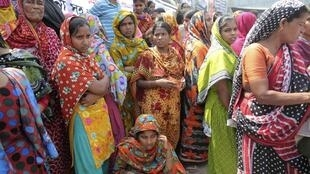 Families of Rana Plaza make the first anniversary of the tragedy