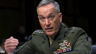 Tổng tham mưu trưởng quân đội Hoa Kỳ Joseph Dunford tại Bắc Kinh ngày 16/08/2017.