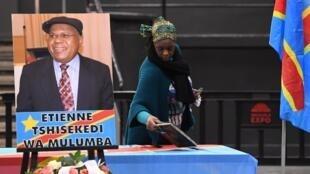 L'hommage de la communauté congolaise à Etienne Tshisekedi le 3 février à Bruxelles, en Belgique.