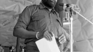 Jonas Savimbi. 10 de Novembro de 1984.