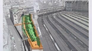 Informe sobre área verde no centro de Paris, futuro Jardim Marielle Franco.