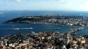Vue aérienne d'Istanbul, enTurquie.