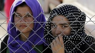 Des réfugiées Yézidis, dans un camp au sud de la Turquie, le 20 juin 2015.