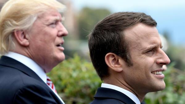 Emmanuel Macron e Donald Trump se encontram em maio na Itália