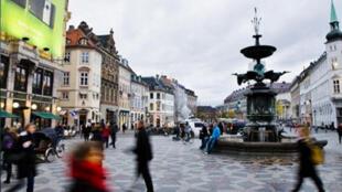 Vista de Copenhague, capital da Dinamarca, país menos corrupto do mundo.
