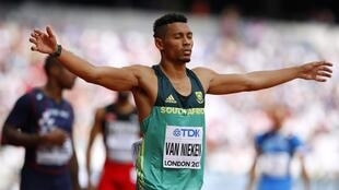 Wayde van Niekerk won Olympic gold in the 400 metres in Rio in 2016 and is seeking a second consecutive world title over the distance.
