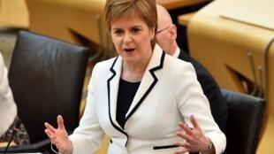 Thủ hiến xứ Scotland Nicola Sturgeon phát biểu trước Nghị Viện về Brexit và cuộc trưng cầu dân ý lần thứ hai về độc lập với Anh Quốc, ngày 24/04/2019.