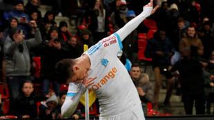 Florian Thauvin was the star striker in Marseille's 6-3 rout of Metz.
