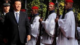 Chủ tịch Trung Quốc Tập Cận Bình viếng thăm Hy Lạp. Ảnh ngày 11/11/2019.