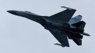 Chiến đấu cơ Sukhoi Su-35 của Nga bay biểu diễn ở triển lãm hàng không MAKS 2017, ở Zhukovsky, ngoại ô Matxcơva, Nga, ngày 21/07/2017. Ảnh minh họa.