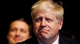 Le Premier ministre britannique Boris Johnson à Manchester au congrès annuel du parti conservateur. Le 30 septembre 2019.