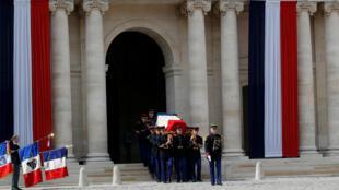 Церемония прощания с Симоной Вейль в Доме инвалидов, Париж, 5 июля 2017.
