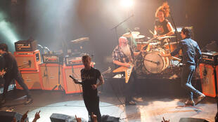 The Eagles of Death Metal on stage at the Bataclan before the 13 November attack