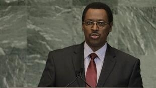 Burundi Vice-President Terence Sinunguruza addresses the 67th United Nations General Assembly in New York, 27 September, 2012