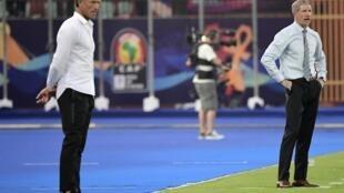 Le Français Hervé Renard et le Britannique Stuart Baxter (à droite) font partie de ces coaches qui ont quitté leur poste de sélectionneur, peu après la CAN 2019.