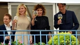   (From L) Hungarian director Laszlo Nemes, US actress Kirsten Dunst, Italian actress / director Valeria Golino and Danish actor Mads Mikkelsen are all members of the Cannes Film Festival jury