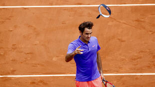 """O """"Rei"""" Roger Federer abriu este domingo, 24 de maio de 2015, o Torneio internacional de ténis, de Roland Garros, em Paris."""