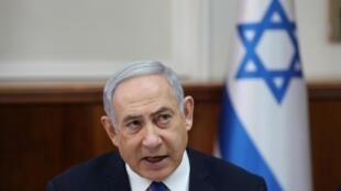 Le Premier ministre israélien Benyamin Netanyahu, le 29 décembre 2019, à Jérusalem.