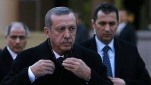 Turkish Prime Minister Tayyip Erdogan  in Ankara on 18 December