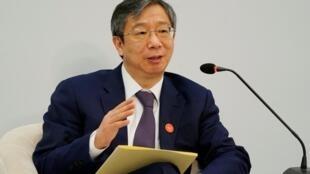 中國央行行長易綱,2018年4月11號在博鰲論壇
