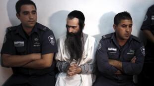 Yishai Schlissel, acusado de esfaquear seis pessoas durante a Parada Gay de Jerusalém, em 31 de julho de 2015.