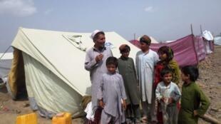 Des réfugiés dans le camp de Gulan, près de Khost.