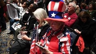 Apoiantes do candidato republicano derrotado Roy Moore. 12 de Dezembro de 2017.