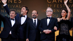 71st Cannes Film Festival Opening.T. Frémaux, with cast and director of 'Everybody Knows', opening film of the Golden Palm competition,Cannes, France, May 8, 2018.