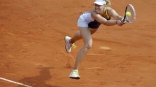 Мария Шарапова в матче против Серены Уильямс, Париж, 8 июня 2013 года