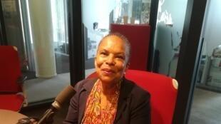 Christiane Taubira en studio à RFI (juin 2018).