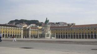 Một góc khu phố Baixa, trung tâm thủ đô Lisboa, Bồ Đào Nha.