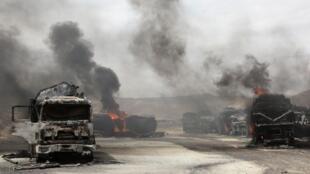 Ataque dos talibãs contra as forças da OTAN na província de Samangan, no dia 18 de julho de 2012.