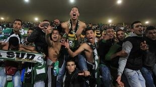 Supporteurs du Raja Casablanca, le 18 décembre 2013.