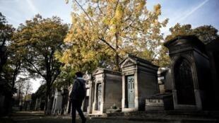Au cimetière du Père-Lachaise, à Paris (photo d'illustration, ici le 1er novembre 2016).