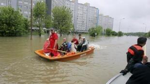 Một khu phố ở Wroclaw, tây nam Ba Lan, 23/05/2010