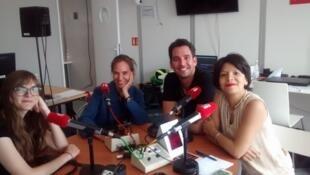 Alejandra Villalba, Daniel Michel, Rodrigo Imaz estuvieron en los estudios de RFI en Cannes.
