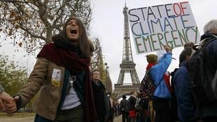 Manifestación estos días en París.