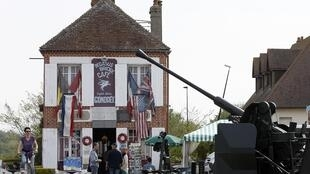 Cafe Gondree at Pegasus Bridge in Benouville in the Normandy region, claims to be the first house to be liberated in France, 30 April 2014