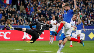 Olivier Giroud scored France's second goal and his 35th for his country during a 4-0 win over Iceland.
