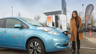L'une des 200 stations de recharge rapide mises en place sur les autoroutes françaises.