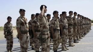 Des troupes françaises au Mali le 23 avril 2013.